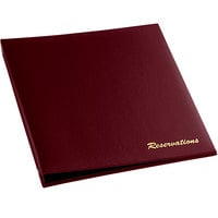H. Risch RESBOOK-WINE Wine Faux Leather Reservation Book