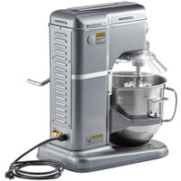 Avantco MIX8GGY Dark Gray 8 Qt. Commercial Countertop Mixer with Guard and Accessories - 120V, 4/5 hp