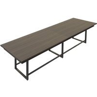 Safco MRH14STO Mirella 14' Southern Tobacco Two-Tier Rectangular Standing Conference Table