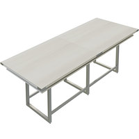 Safco MRH10WAH Mirella 10' White Ash Two-Tier Rectangular Standing Conference Table
