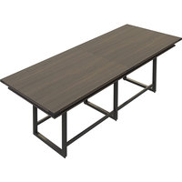 Safco MRH10STO Mirella 10' Southern Tobacco Two-Tier Rectangular Standing Conference Table