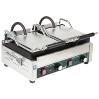 Waring WFG300 Tostato Ottimo Smooth Top & Bottom Dual Panini Sandwich Grill - 17 inch x 9 1/4 inch Cooking Surface - 240V, 3120W