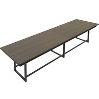 Safco MRH16STO Mirella 16' Southern Tobacco Two-Tier Rectangular Standing Conference Table