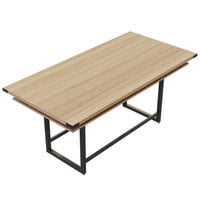 Safco MRCH8SDD Mirella 8' Sand Dune Two-Tier Rectangular Standing Conference Table