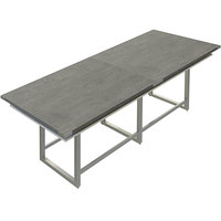 Safco MRH10SGY Mirella 10' Stone Gray Two-Tier Rectangular Standing Conference Table