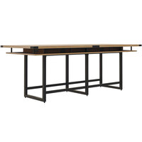 Safco MRH10SDD Mirella 10' Sand Dune Two-Tier Rectangular Standing Conference Table