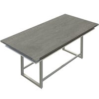 Safco MRCH8SGY Mirella 8' Stone Gray Two-Tier Rectangular Standing Conference Table