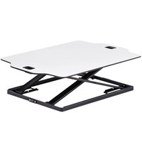 Safco 2182WH Active 31 1/4 inch x 21 1/4 inch White Sit-Stand Desktop Desk