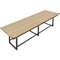 Safco MRH14SDD Mirella 14' Sand Dune Two-Tier Rectangular Standing Conference Table