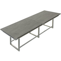 Safco MRH12SGY Mirella 12' Stone Gray Two-Tier Rectangular Standing Conference Table