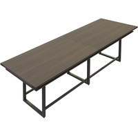 Safco MRH12STO Mirella 12' Southern Tobacco Two-Tier Rectangular Standing Conference Table