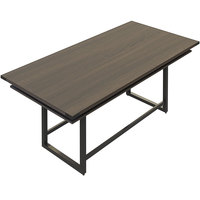 Safco MRCH8STO Mirella 8' Southern Tobacco Two-Tier Rectangular Standing Conference Table