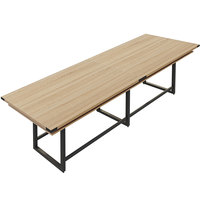 Safco MRH12SDD Mirella 12' Sand Dune Two-Tier Rectangular Standing Conference Table
