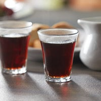 Duralex 1001AC04 Amalfi 2.5 oz. Stackable Shot Glass / Espresso Glass - 4/Pack