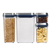 OXO 3106800 .9 Qt. SteeL POP Square Container with Stainless Steel POP Lid
