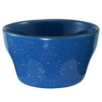 International Tableware CF-4 Campfire 7.25 oz. Speckle Ocean Blue Stoneware Bouillon - 36/Case