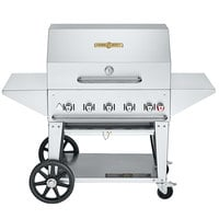 Crown Verity MCB-36PRO Professional Series Liquid Propane 36 inch Mobile Outdoor Grill with Accessory Package