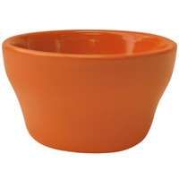 International Tableware CA-4-O Cancun 7.25 oz. Orange Stoneware Bouillon - 36/Case