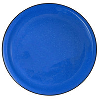 International Tableware CFN-16 Campfire 10 1/2 inch Speckle Ocean Blue Narrow Rim Stoneware Plate - 12/Case