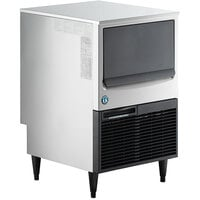 Hoshizaki KM-161BWJ 24 inch Water Cooled Undercounter Crescent Cube Ice Machine with 78 lb. Bin - 115V, 153 lb.