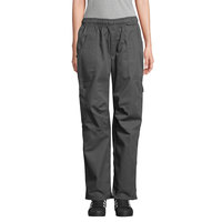 Uncommon Threads 4102 Unisex Slate Gray Customizable Grunge Cargo Chef Pants - L