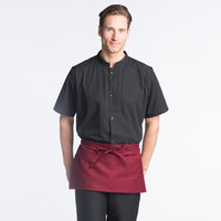 Uncommon Threads 3067 Burgundy Customizable Waist Apron with 3 Pockets - 11 inch L x 23 inch W