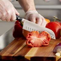 Wusthof 4176-7 Classic Ikon 7 inch Forged Hollow Edge Santoku Knife with POM Handle