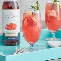 Capora 750 mL Strawberry Flavoring Syrup
