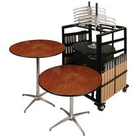 "Resilient 200 Series Plywood 36"" Round Adjustable Height Bistro Table Package"