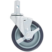 5 inch Polyurethane Swivel Stem Caster With Brake for Sheet Pan Racks