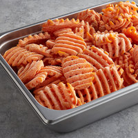 McCain Harvest Splendor 2.5 lb. Sweet Potato Cross Trax Waffle Fries - 6/Case