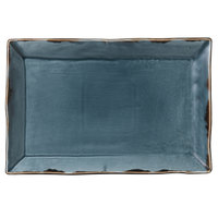 Dudson HBL01 Harvest 13 1/4 inch x 9 inch Blue Rectangular China Platter by Arc Cardinal - 6/Case