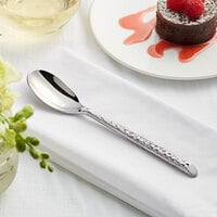 Acopa Iris 7 1/2 inch 18/8 Stainless Steel Extra Heavy Weight Forged Teaspoon - 12/Case