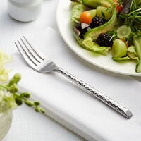 Acopa Iris 7 3/4 inch 18/8 Stainless Steel Extra Heavy Weight Forged Salad Fork - 12/Case