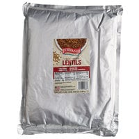 Furmano's 6.7 lb. Fully Cooked Lentil Pouch - 6/Case