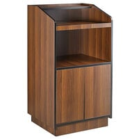"Lancaster Table & Seating 46"" Walnut Host Station / Host Podium"