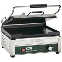 Waring WFG250 Tostato Supremo Large Smooth Top & Bottom Panini Grill - 14 1/2 inch x 11 inch Cooking Surface - 120V, 1800W