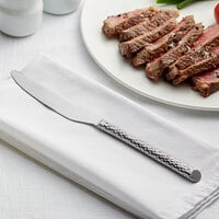 Acopa Iris 9 1/2 inch 18/8 Stainless Steel Extra Heavy Weight Forged Dinner Knife - 12/Case