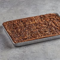 David's Cookies 4 oz. Pre-Cut Rocky Road Brownie 24-Count Tray - 2/Case