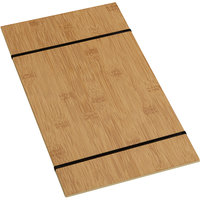 American Metalcraft BBR15 9 inch x 15 1/2 inch Bamboo Wood Rubberband Menu Holder