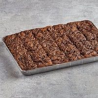 David's Cookies 4 oz. Pre-Cut Double Fudge Chunk Brownie 24-Count Tray - 2/Case