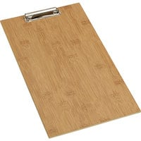 American Metalcraft BB15 9 inch x 15 1/2 inch Bamboo Wood Clipboard Menu Holder