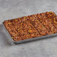 David's Cookies 4 oz. Pre-Cut REESE'S® Peanut Butter Swirl Brownie 24-Count Tray - 2/Case