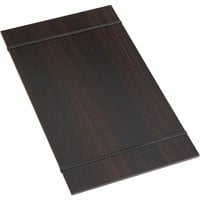 American Metalcraft CBR15 9 inch x 15 1/2 inch Espresso Wood Rubberband Menu Holder