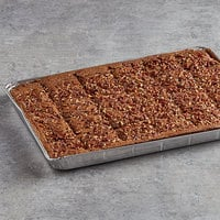 David's Cookies 4 oz. Pre-Cut Pecan Brownie 24-Count Tray - 2/Case