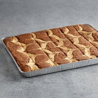 David's Cookies 4 oz. Pre-Cut Cheesecake Brownie 24-Count Tray - 2/Case