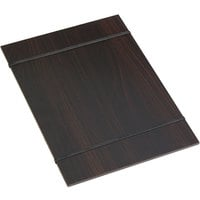 American Metalcraft CBRB 9 inch x 12 1/2 inch Espresso Wood Rubberband Menu Holder