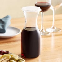 Choice 17 oz. Polycarbonate Carafe with Flat Lid   - 12/Case