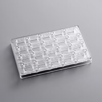 Fat Daddio's PCMM-06 ProSeries 20 Compartment Magnetic Polycarbonate Deco Rectangle Candy Mold