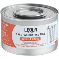 Leola Premium 4 Hour Wick Chafing Dish Fuel with Safe Pad - 24/Case